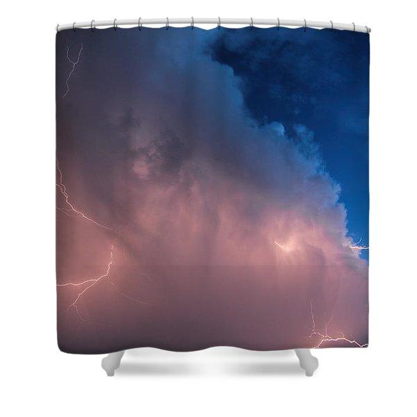 Thunder God Approaches Shower Curtain