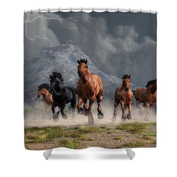 Thunder On The Plains Shower Curtain