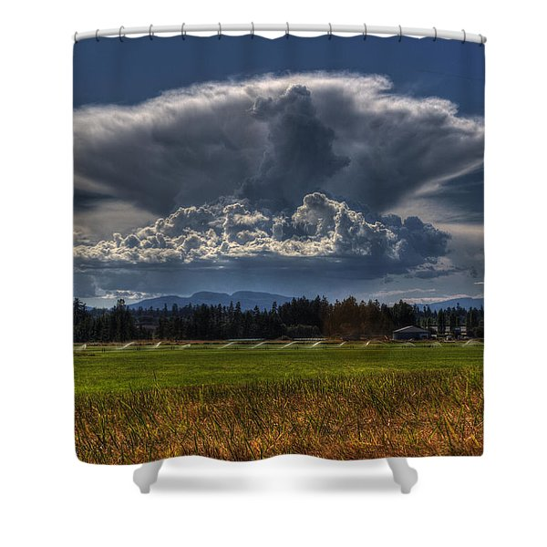 Shower Curtain featuring the photograph Thunder Storm by Randy Hall
