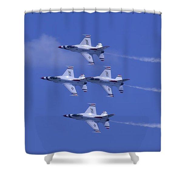 Thunderbirds Diamond Formation Topsides Shower Curtain