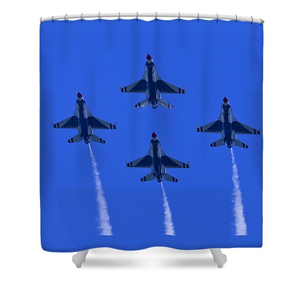 Thunderbirds Diamond Formation Undersides 2 Shower Curtain