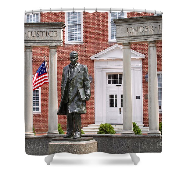 Thurgood Marshall Statue - Equal Justice For All Shower Curtain