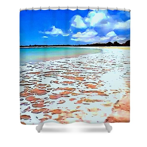 Tidal Lace Shower Curtain