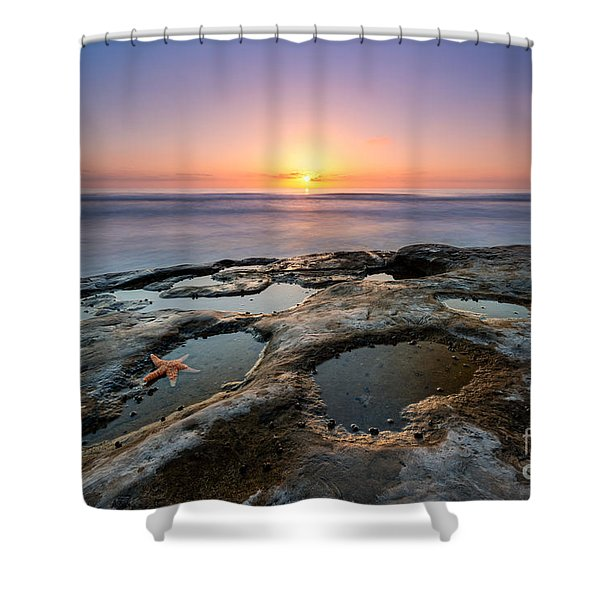 Tide Pool Sunset Shower Curtain