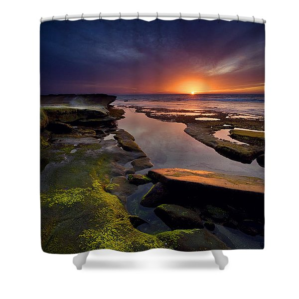 Tidepool Sunsets Shower Curtain