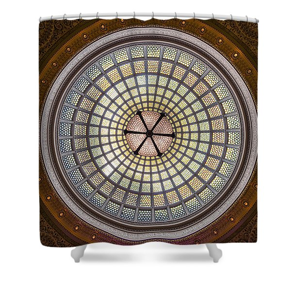 Tiffany Dome In Chicago Cultural Center Shower Curtain