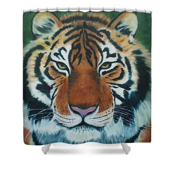 Tiger Eyes Shower Curtain