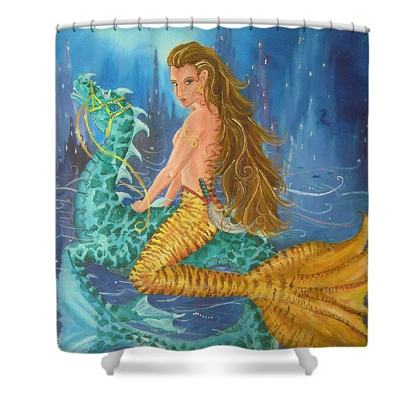 Tiger Lily Tails Shower Curtain