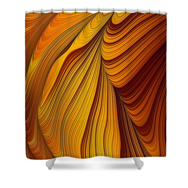 Tiger's Eye Shower Curtain