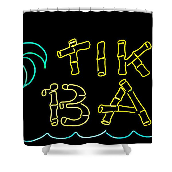 Tiki Bar Shower Curtain