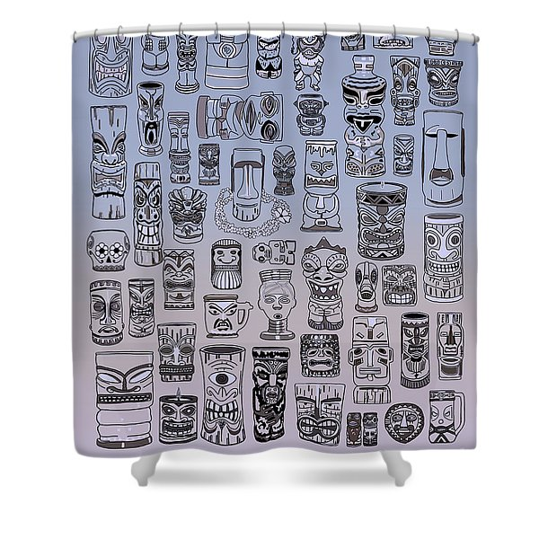 Tiki Cool Zone Shower Curtain