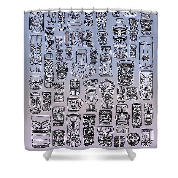 Tiki Cool Zone Shower Curtain