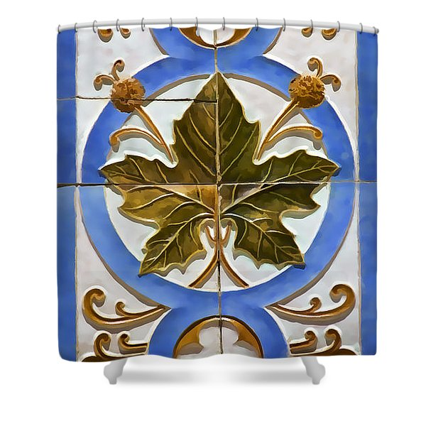 Tile Of Portugal Shower Curtain