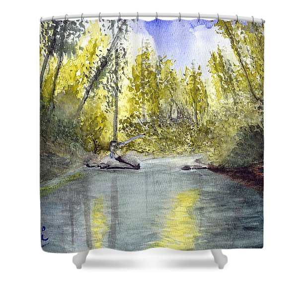 Tillamook Fishing Shower Curtain