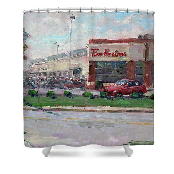 Tim Hortons By Niagara Falls Blvd Where I Have My Coffee Shower Curtain