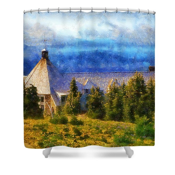 Timberline Lodge Shower Curtain