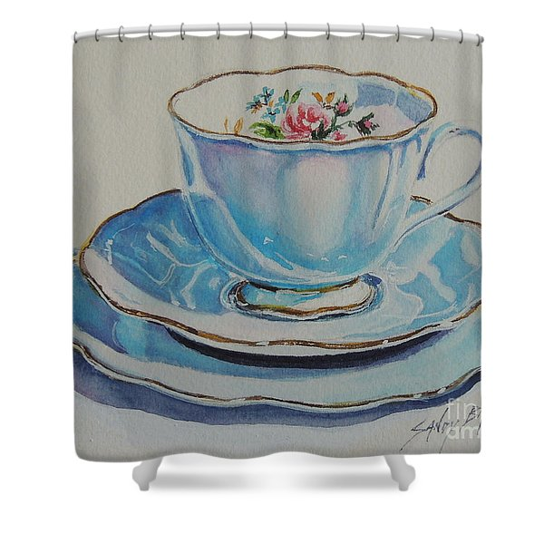Time For Tea Sold Shower Curtain