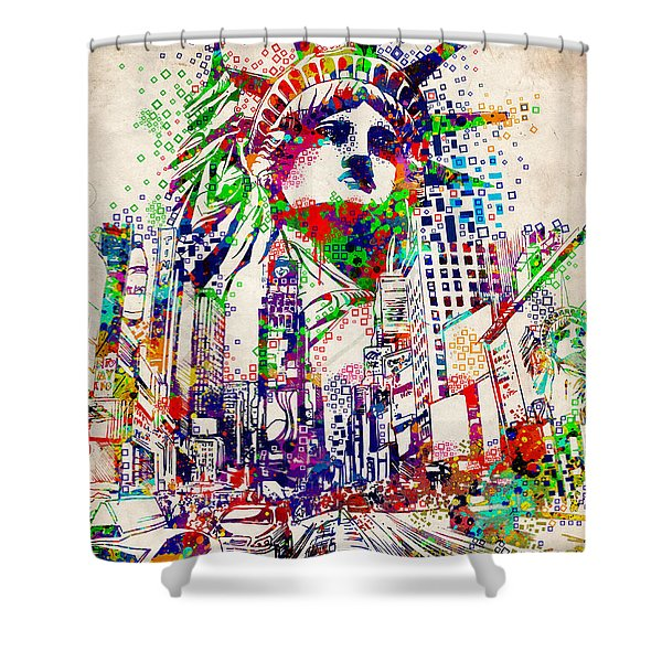 Times Square 3 Shower Curtain