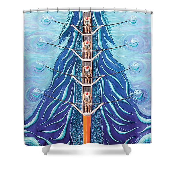 Times 4 By O4rsom. Rowing Sport Of Champions Shower Curtain
