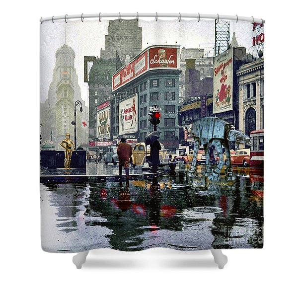 Times Square 1943 Reloaded Shower Curtain