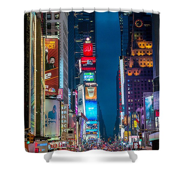 Times Square I Shower Curtain