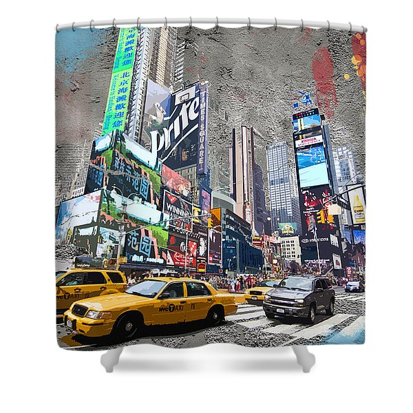 Times Square Street Creation Shower Curtain