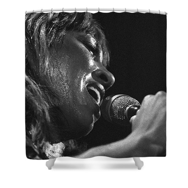 Tina Turner 1 Shower Curtain