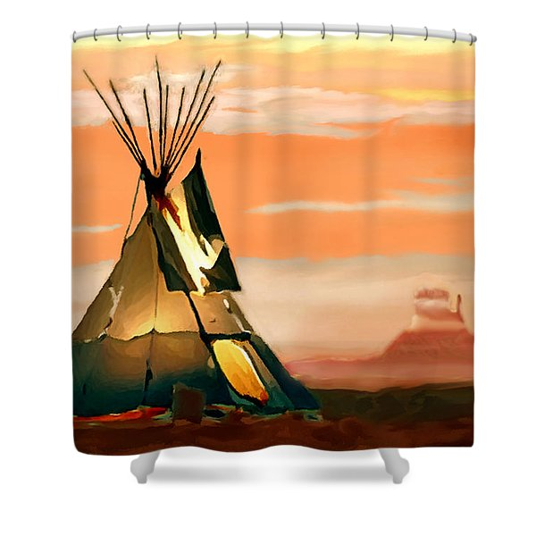 Tipi Or Tepee Monument Valley Shower Curtain