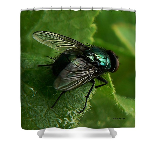 To Be The Fly On The Salad Greens Shower Curtain
