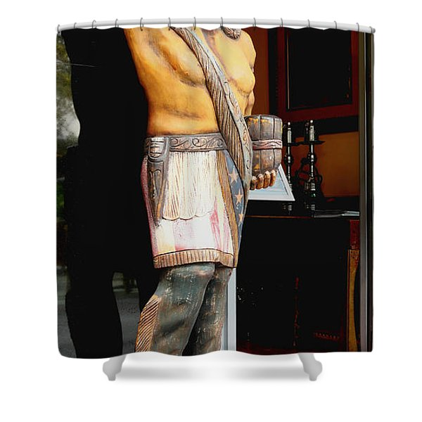 Tobacco Sign Shower Curtain