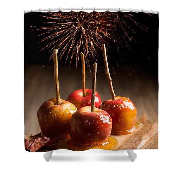 Toffee Apples Group Shower Curtain