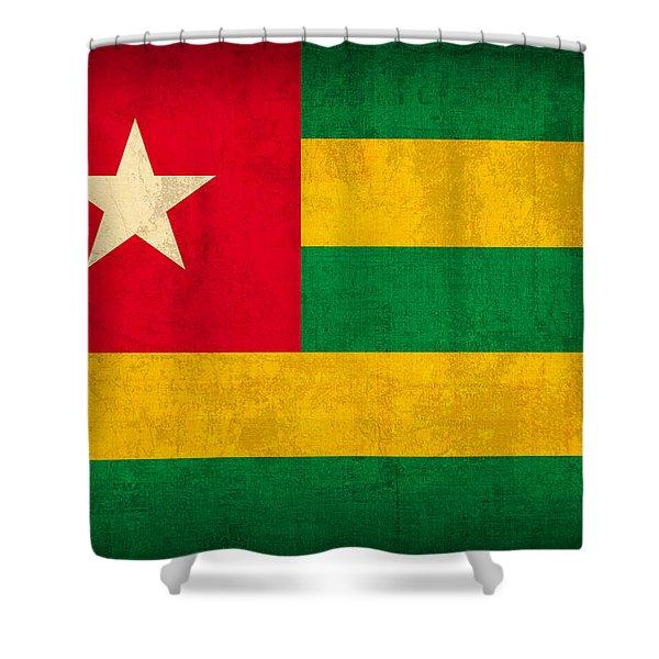 Togo Flag Vintage Distressed Finish Shower Curtain