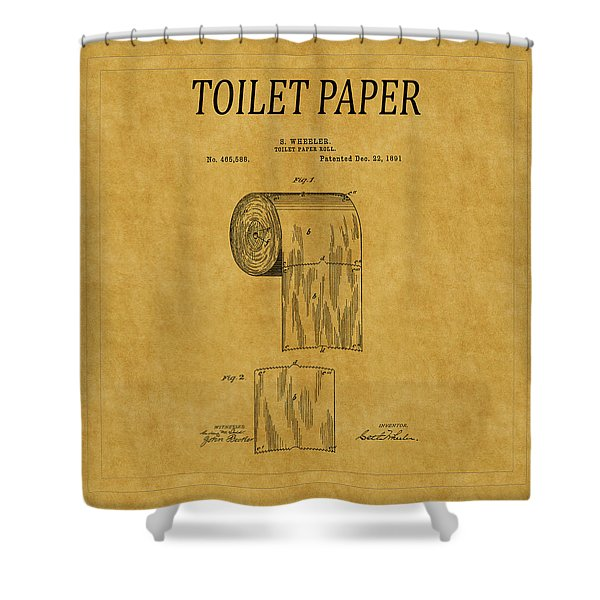 Toilet Paper Patent 1 Shower Curtain