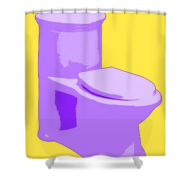 Toilette In Purple Shower Curtain