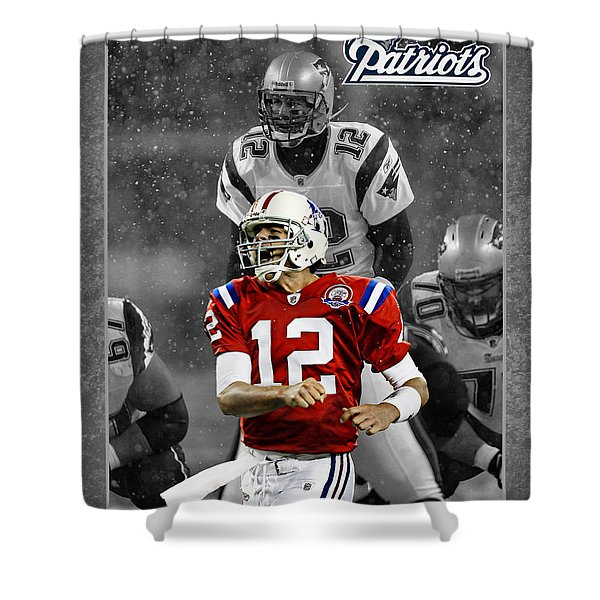 Tom Brady Patriots Shower Curtain