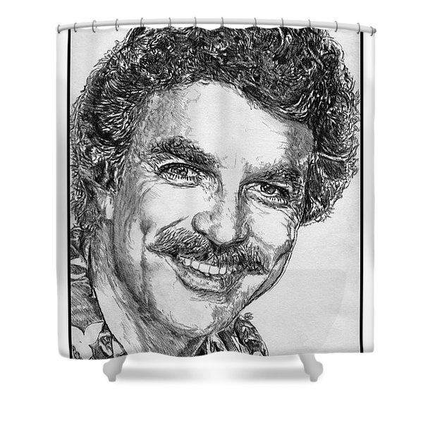 Tom Selleck In 1984 Shower Curtain