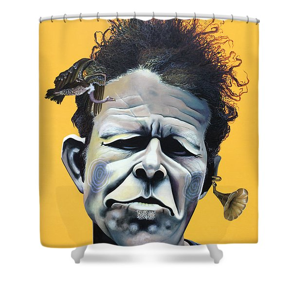 Tom Waits - He's Big In Japan Shower Curtain