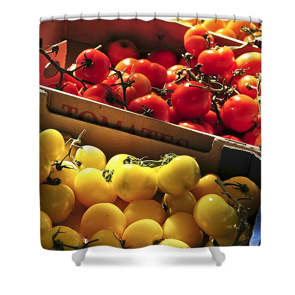 Tomatoes On The Market Shower Curtain