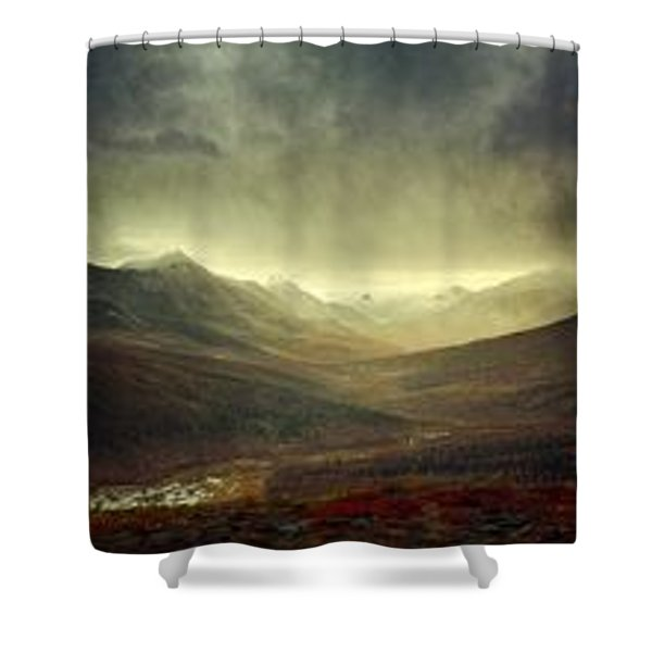 Tombstone Range Seasons Shower Curtain