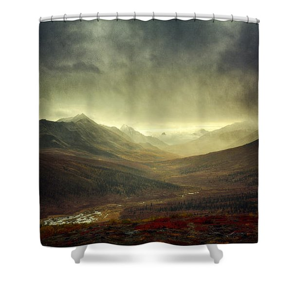 Tombstone Range Seasons Vertical Shower Curtain