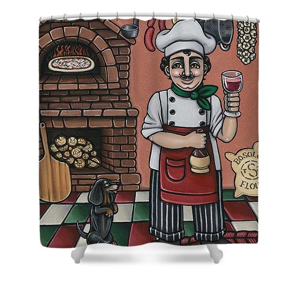 Tommys Italian Kitchen Shower Curtain