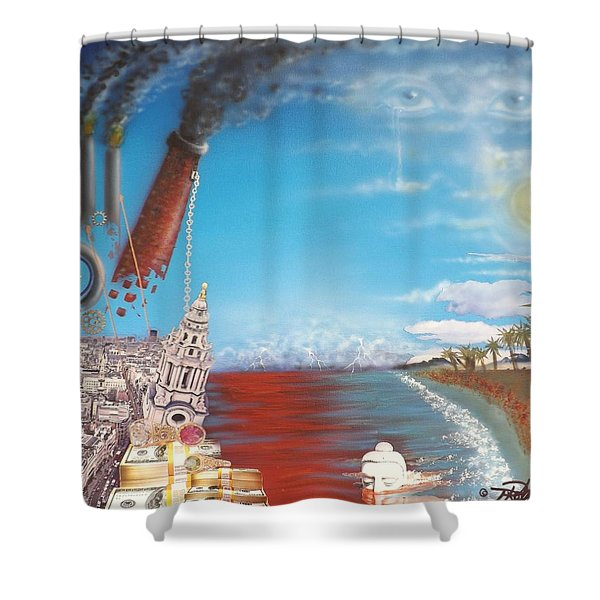Too Late For Change? Shower Curtain