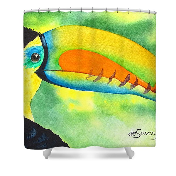 Shower Curtain featuring the painting Tookey  by Diane DeSavoy