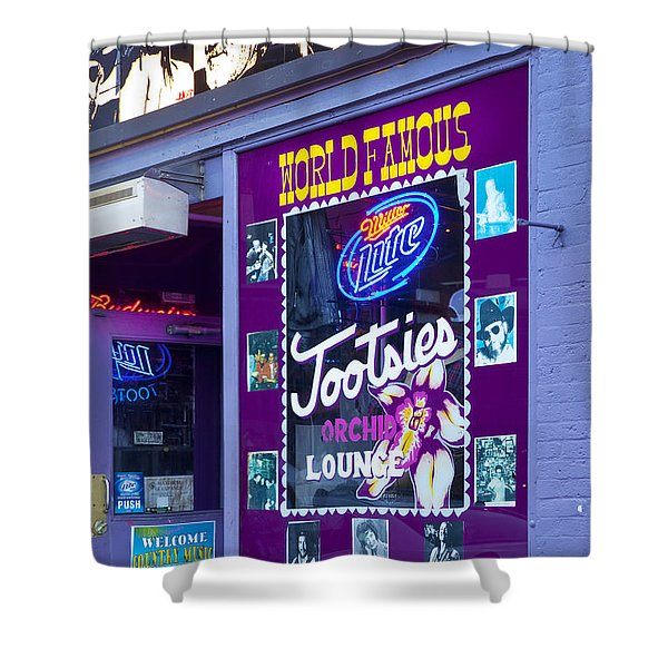 Shower Curtain featuring the photograph Tootsies Nashville by Brian Jannsen