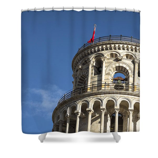 Top Of The Leaning Tower Of Pisa Shower Curtain