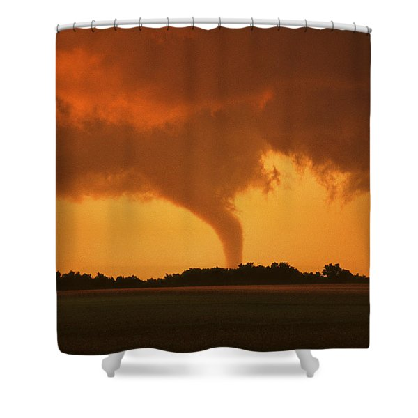 Tornado Sunset 11 X 14 Crop Shower Curtain