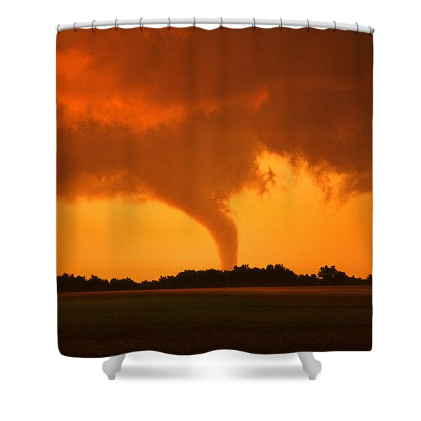 Tornado Sunset Shower Curtain