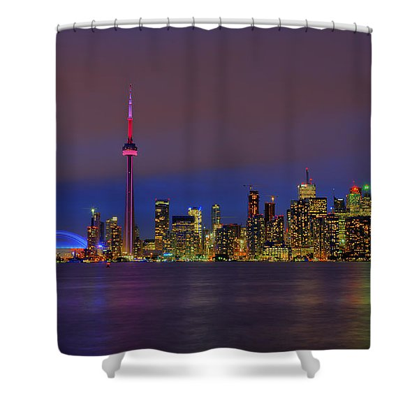 Toronto By Night... Shower Curtain