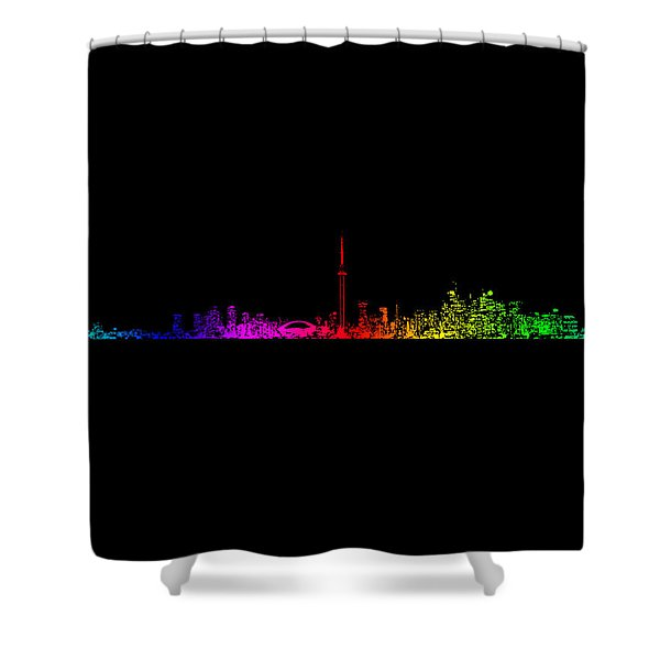 Toronto Rainbow Shower Curtain