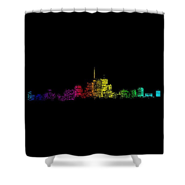 Toronto Skyline Gradient Shower Curtain
